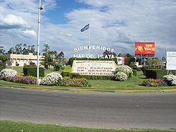 Autovia 2 and Constitucion avenue roundabout at Mar del Plata.JPG