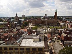 Norwich Town Hall from the Castle.jpg